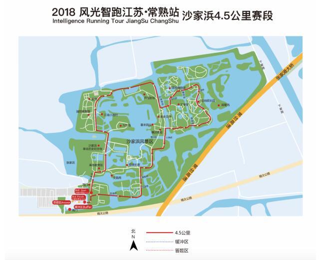 虞山风景区游览线路图